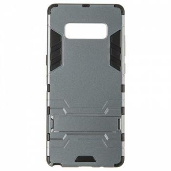 Пластиковый ударопрочный чехол накладка для Samsung Note 8 серый