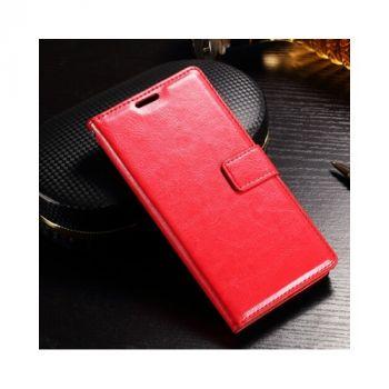 Яркий кожаный чехол книжка Vintage для Sony Xperia XZ red от Floveme
