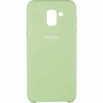 Оригинальный чехол накладка Soft Case для Samsung J600 (J6-2018) зеленый