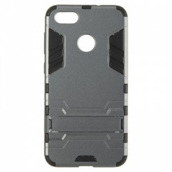 Пластиковый ударопрочный чехол накладка для Huawei Nova Lite серый