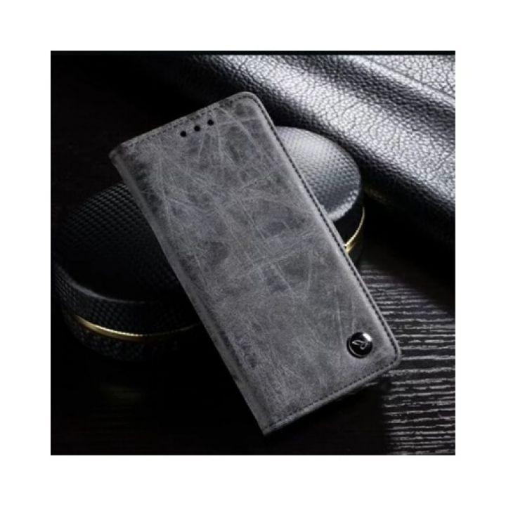 Классический кожаный чехол книжка Imagine для Samsung Galaxy Note 8 gray