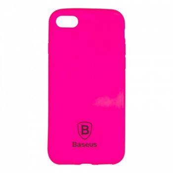 Яркий силиконовый чехол Colorit от Baseus для iPhone 4 розовый