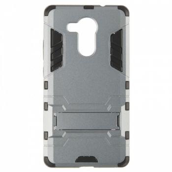 Пластиковый ударопрочный чехол накладка для Huawei Mate 8 серый