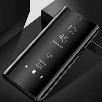 Черный чехол флип Smart Clear для Samsung Galaxy S9