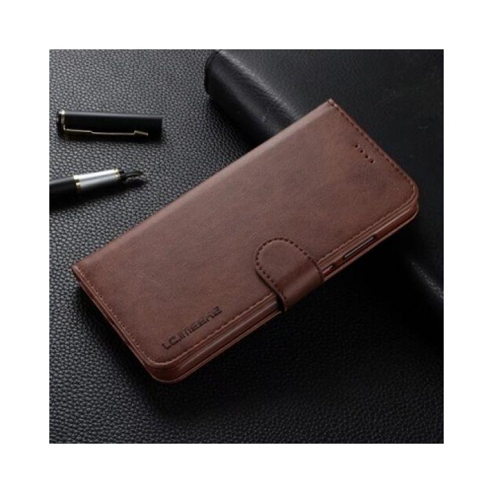Чехол книжка коричневый Lock для Samsung Galaxy S9