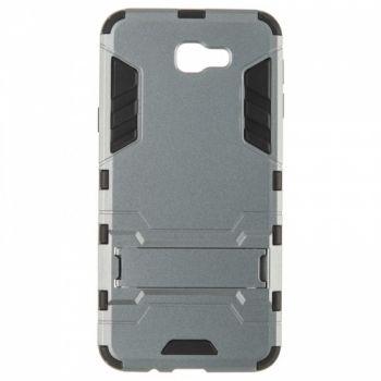 Пластиковый ударопрочный чехол накладка для Samsung J5 Prime серый