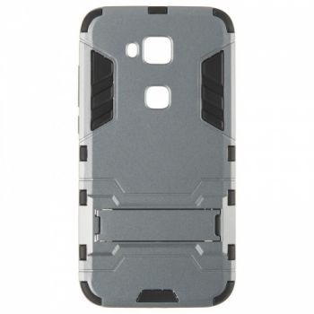Пластиковый ударопрочный чехол накладка для Huawei G7 Plus серый