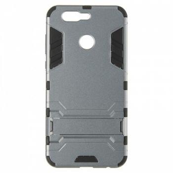 Пластиковый ударопрочный чехол накладка для Huawei Nova 2 Plus серый
