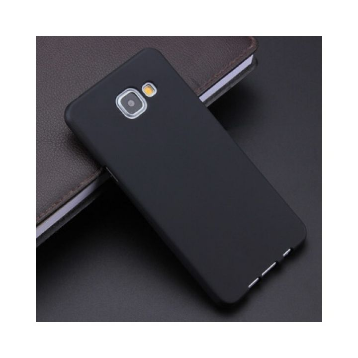 Оригинальная силиконовая накладка для Samsung A510 (A5-2016) черный