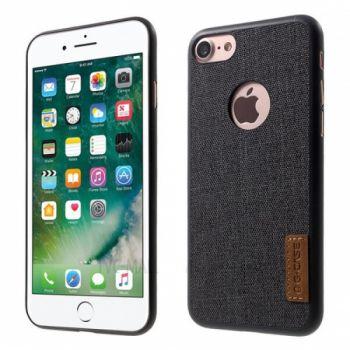 Силиконовая накладка с тканью Canvas от G-Case для iPhone 8 черный