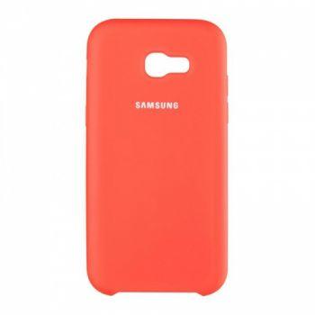 Оригинальный чехол накладка Soft Case для Samsung J700 (J7) красный