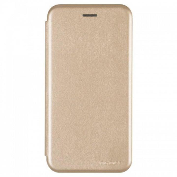 Чехол книжка из кожи Ranger от G-Case для Xiaomi Redmi 5 Plus золотой