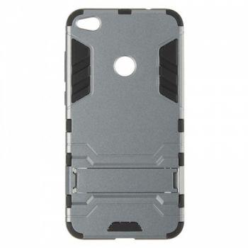 Пластиковый ударопрочный чехол накладка для Huawei P8 Lite серый