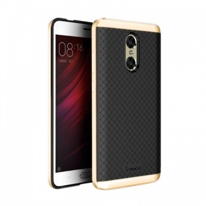 Накладка Carbon от iPaky с пластиковой обводкой для Xiaomi Redmi 3s / 3 Pro золото