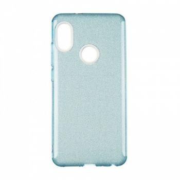 Чехол с блесками Glitter Silicon от Remax для Huawei Y6 (2018) синий