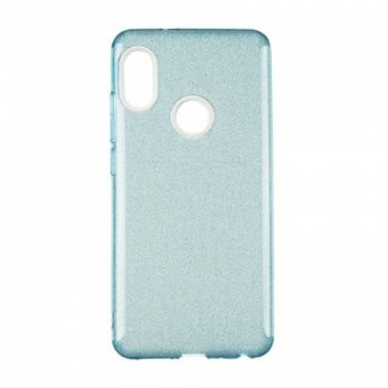 Чехол с блесками Glitter Silicon от Remax для Samsung J120 (J1-2016) синий