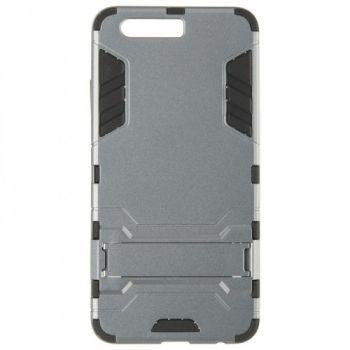 Пластиковый ударопрочный чехол накладка для Huawei P10 Plus серый