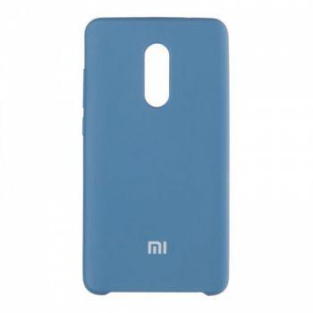 Оригинальный чехол накладка Soft Case для Xiaomi Redmi Note 5a Prime темно-синий