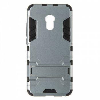Пластиковый ударопрочный чехол накладка для Meizu Pro 6 серый