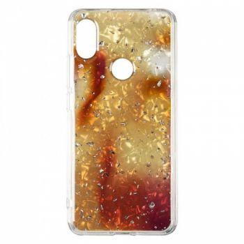 Чехол с жидкостью и блестками Light Stone от Baseus для Xiaomi Redmi S2 Gold