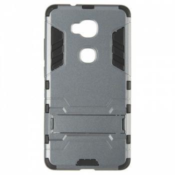 Пластиковый ударопрочный чехол накладка для Huawei Honor 5X серый