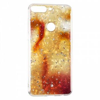 Чехол с жидкостью и блестками Light Stone от Baseus для Huawei Y9 золото