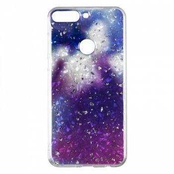 Чехол с жидкостью и блестками Light Stone от Baseus для Huawei Y9 Violet