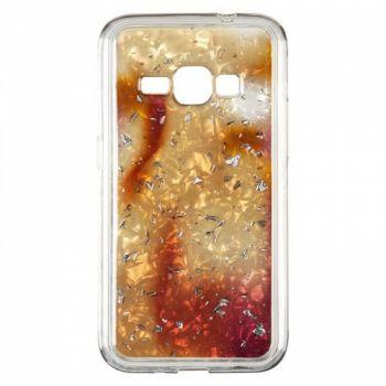 Чехол с жидкостью и блестками Light Stone от Baseus для Samsung J415 (J4 Plus) золотой