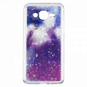 Чехол с жидкостью и блестками Light Stone от Baseus для Samsung J415 (J4 Plus) фиолетовый