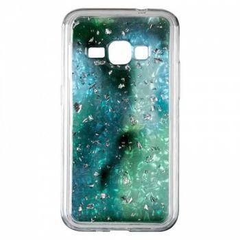 Чехол с жидкостью и блестками Light Stone от Baseus для Samsung J610 (J6 Plus) зеленый
