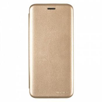 Чехол книжка из кожи G-Case Ranger для Samsung S9 Plus золотой