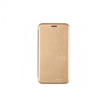 Чехол книжка золотого цвета Lux для Samsung Galaxy S5