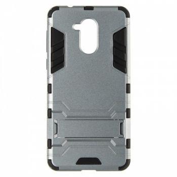 Пластиковый ударопрочный чехол накладка для Huawei Honor 6a серый