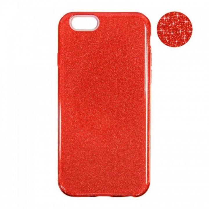 Чехол с блесками Glitter Silicon от Remax для Xiaomi Redmi 5 Plus красный