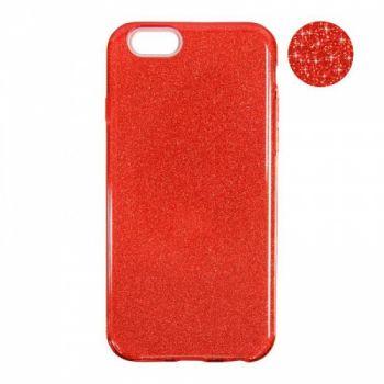 Чехол с блесками Glitter Silicon от Remax для Xiaomi Redmi 4a красный