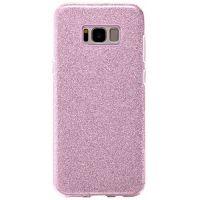 Чехол с блесками Glitter Silicon от Remax для Samsung S8 Plus розовый