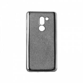 Чехол с блесками Glitter Silicon от Remax для Huawei Y7 черный