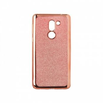 Чехол с блесками Glitter Silicon от Remax для Huawei Y7 розовый