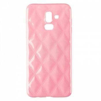 Накладка в ромбиках для девочек на Samsung J810 (J8-2018) розовый