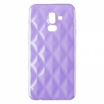 Накладка в ромбиках для девочек на Samsung J810 (J8-2018) фиолетовый
