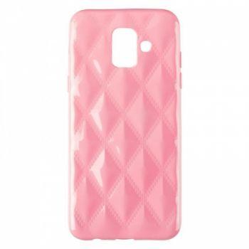 Накладка в ромбиках для девочек на Samsung A600 (A6-2018) розовый