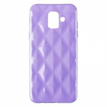 Накладка в ромбиках для девочек на Samsung A600 (A6-2018) фиолетовый