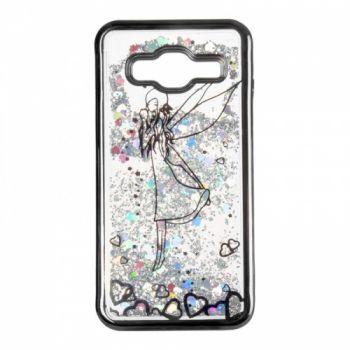 Чехол 3D с жидкостью и блестками Beckberg Aqua для Samsung J510 (J5-2016) Fairy черный