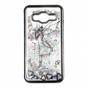 Чехол 3D с жидкостью и блестками Beckberg Aqua для Samsung J700 (J7) Fairy черный