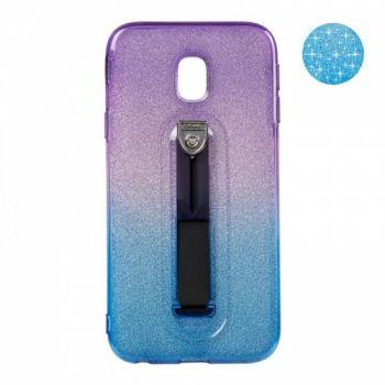 Накладка градиент Glitter Hold от Remax для Samsung J330 (J3-2017) синий/фиолетовый