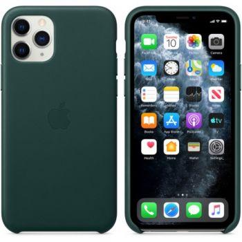 Чехол из натуральной кожи LEATHER CASE для iPhone 11 Pro Max зеленый