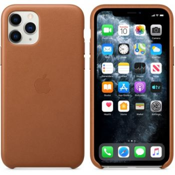 Чехол из натуральной кожи LEATHER CASE для iPhone 11 коричневый