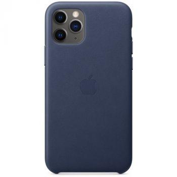Чехол из натуральной кожи LEATHER CASE для Apple iPhone 11 Pro синий