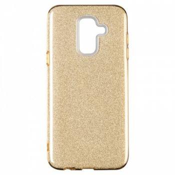 Чехол с блесками Glitter Silicon от Remax для Samsung J415 (J4 Plus) золотой
