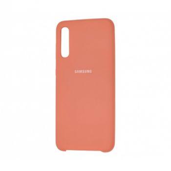Оригинальный чехол накладка Soft Case для Samsung A50 оранжевый